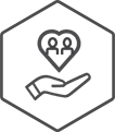 Philanthropy & volunteering icon